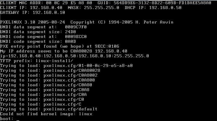 how to build linux kickstart server